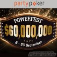 Party Poker $60 Million POWERFEST is Site's Biggest Series Ever